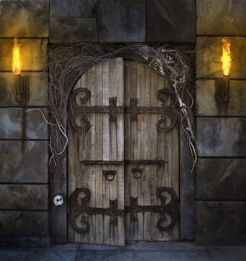дверь пугающая стоковая фотография