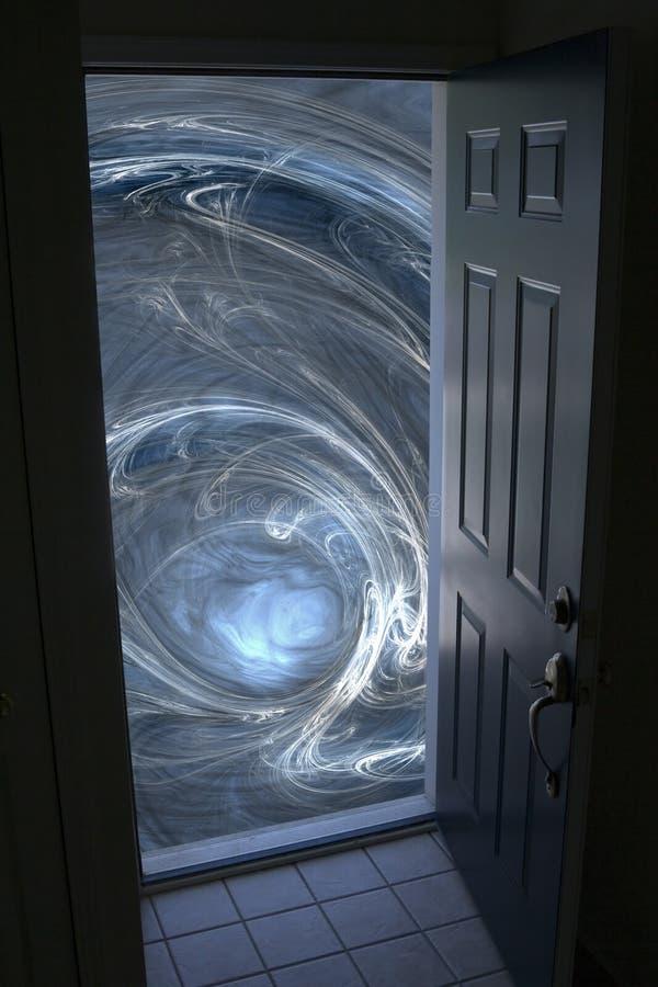 дверь раскрывая к вортексу стоковые изображения rf