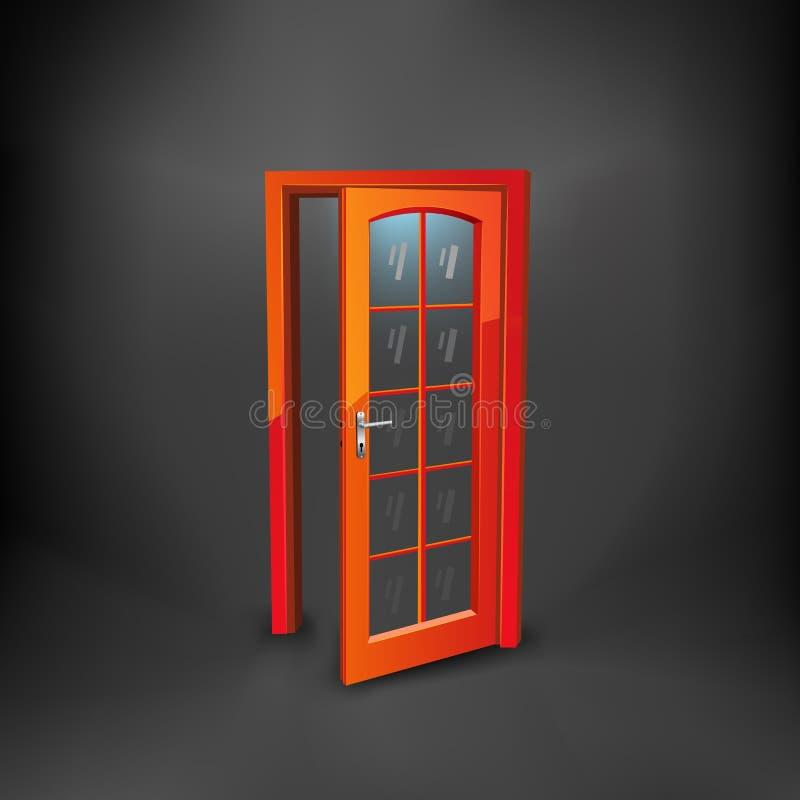 дверь самомоднейшая иллюстрация вектора