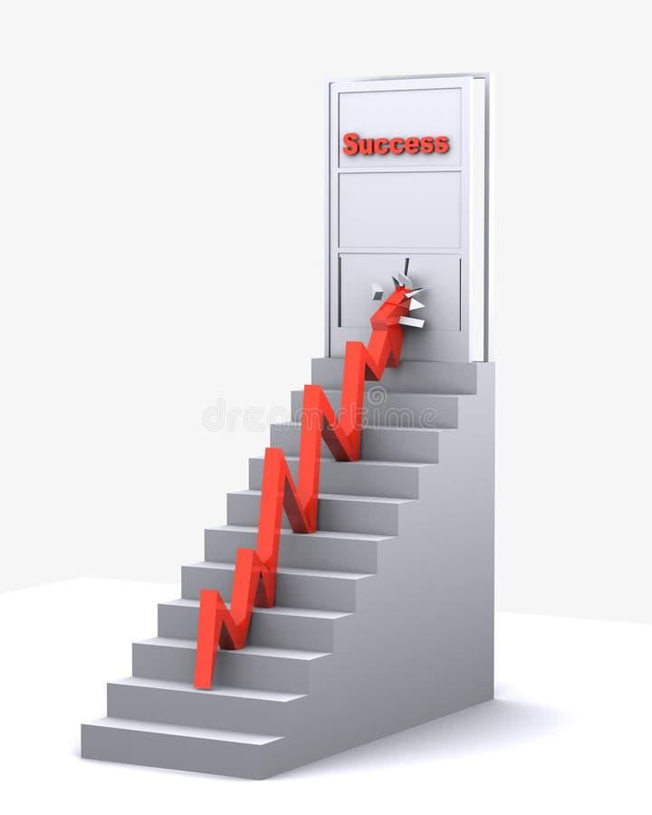 Дверь успеха сломанная стрелкой бесплатная иллюстрация