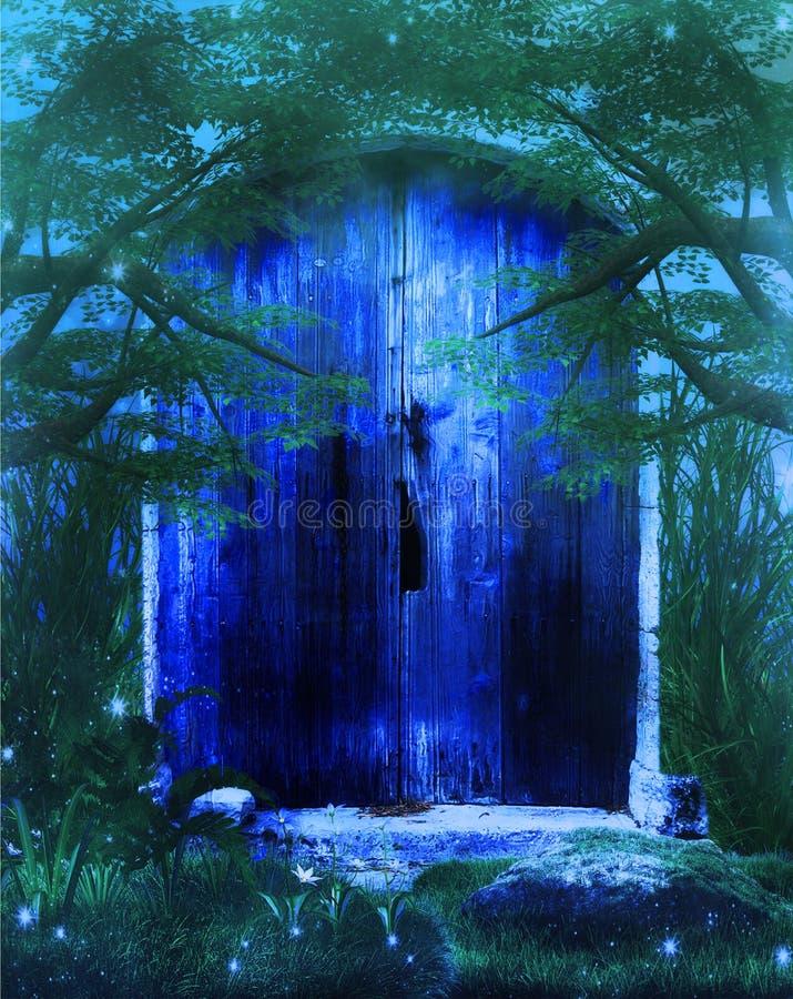 Дверь фантазии иллюстрация штока