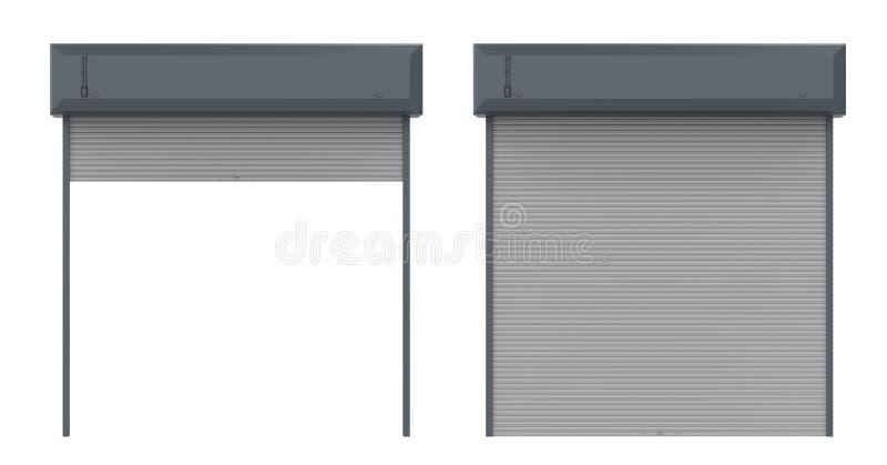 Дверь штарки металла иллюстрация штока