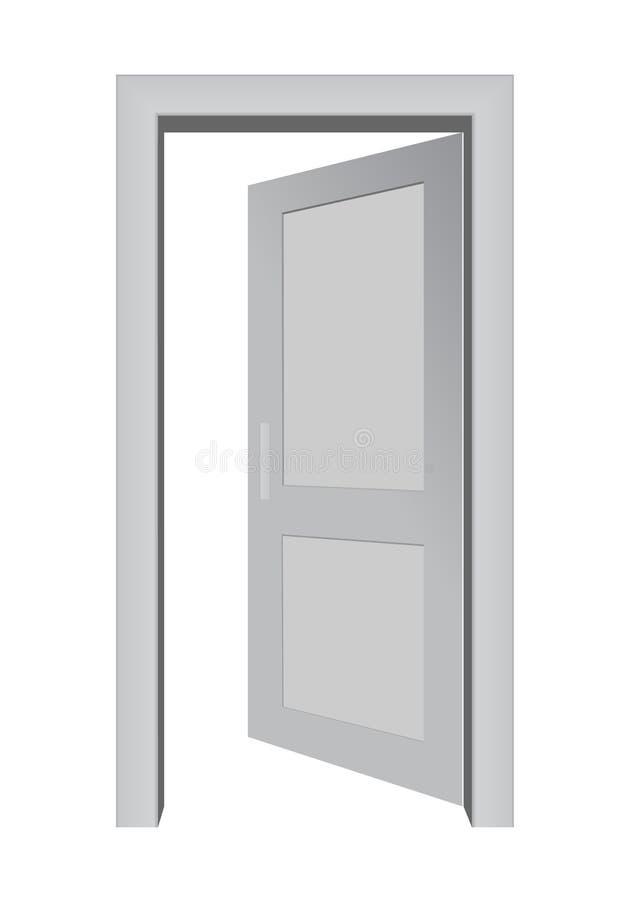 дверь 3d открытая иллюстрация вектора