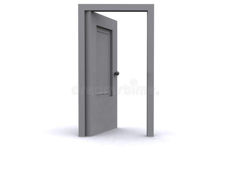дверь 3d иллюстрация штока