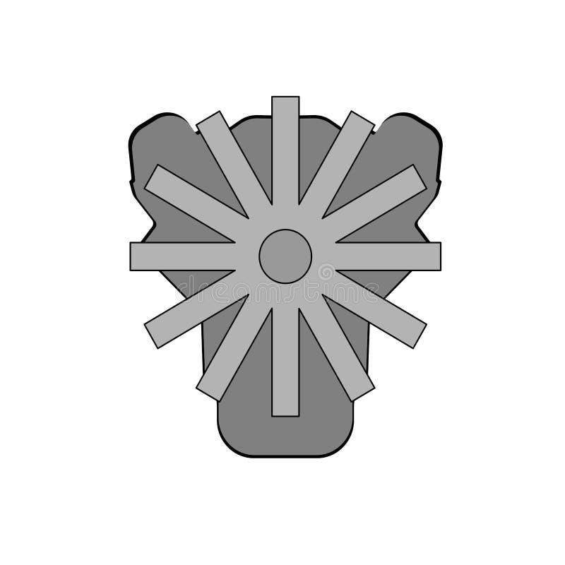 Двигатель автомобиля, векторные графики иллюстрация вектора