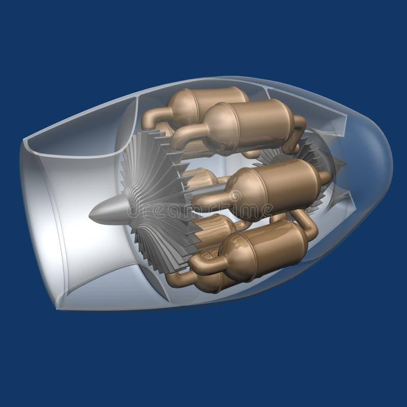 двигатель двигателя иллюстрация штока
