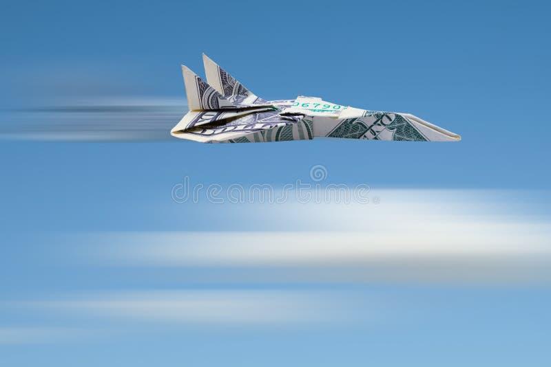 Двигатель доллара летания стоковая фотография rf
