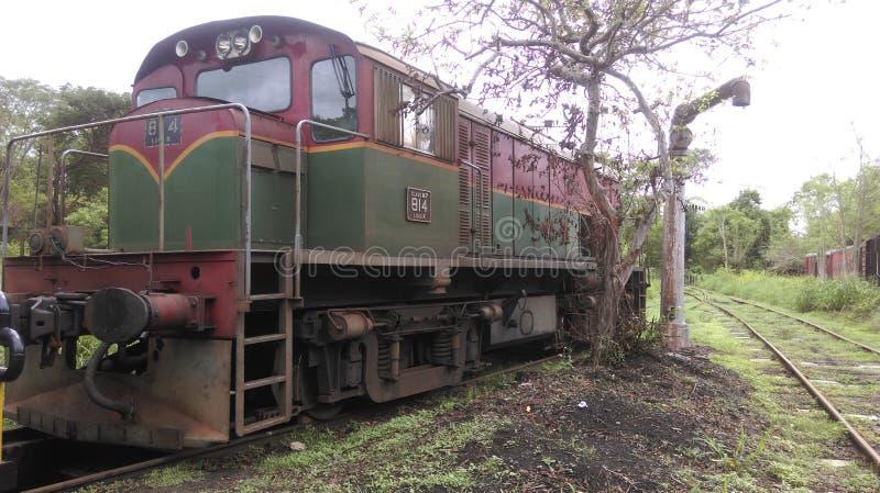 Двигатель поезда M7 стоковое фото rf
