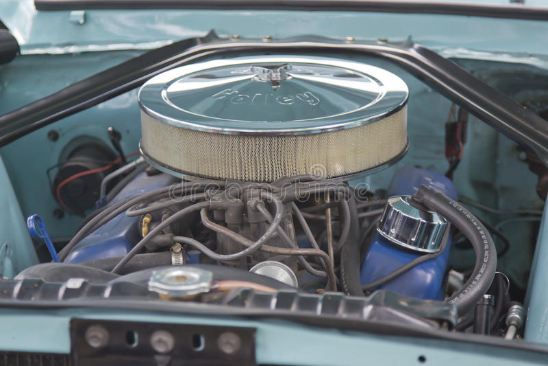 Двигатель 1967 мустанга Ford Aqua стоковое изображение rf