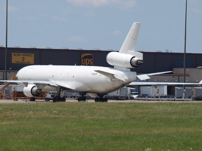 Двигатель MD-11 Cago неотмеченный стоковая фотография rf