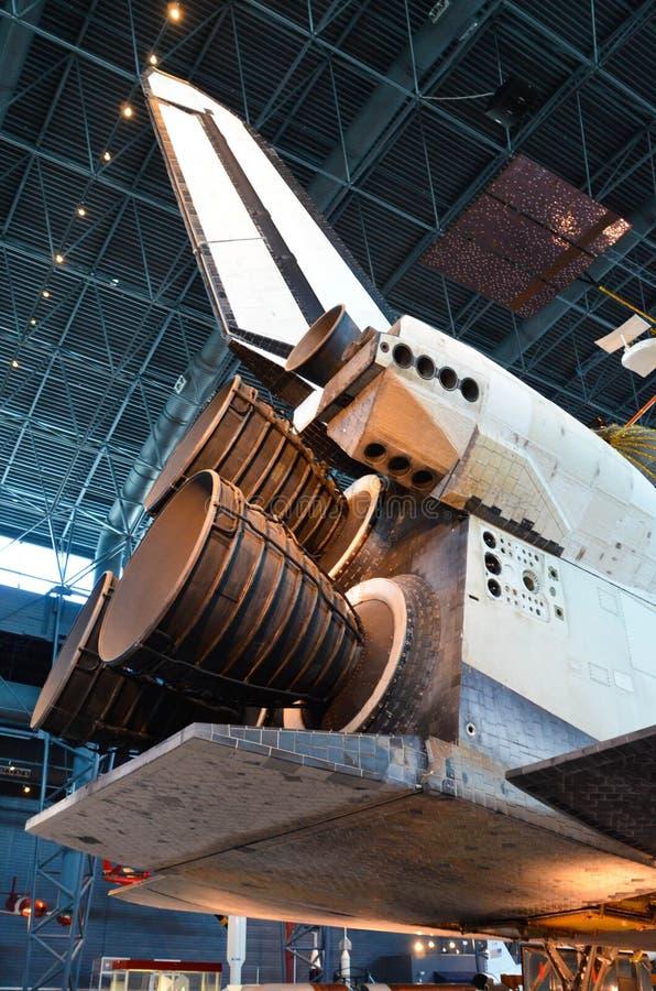 Двигатели космического летательного аппарата многоразового использования открытия стоковое изображение rf
