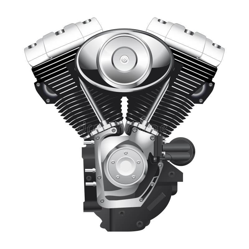 Двигатель мотоцикла иллюстрация вектора