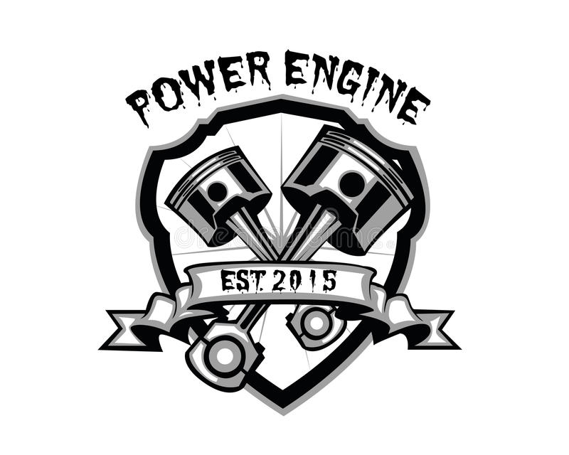 Двигатель силы иллюстрация вектора