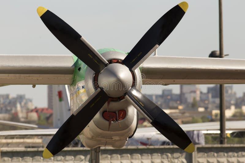 Двигатель турбовинтового самолета воздушных судн с пропеллером стоковая фотография