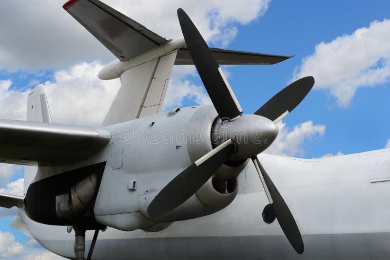 Двигатель турбовинтового самолета самолета стоковые фотографии rf