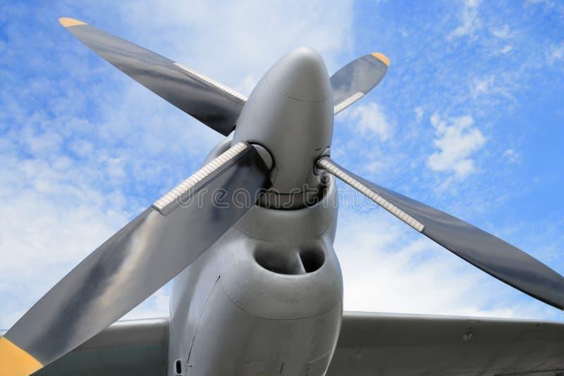 Двигатель турбовинтового самолета самолета стоковые изображения