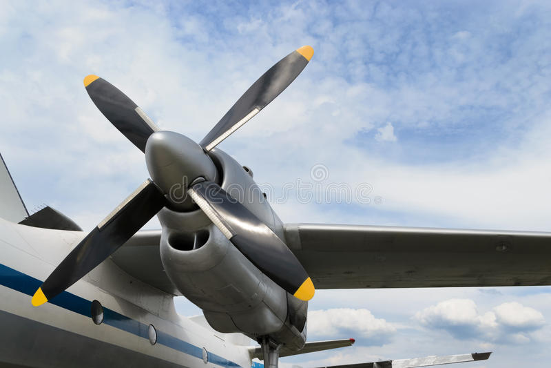 Двигатель турбовинтового самолета самолета стоковая фотография rf