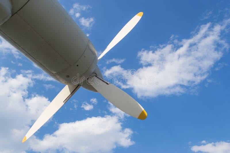 Двигатель турбовинтового самолета самолета стоковые фото