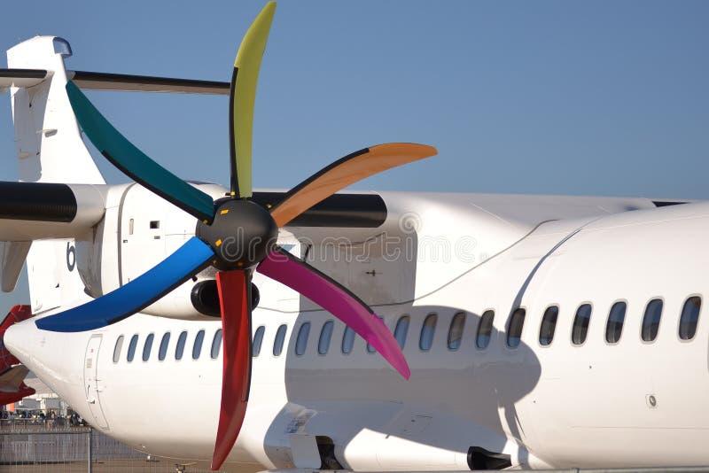 Двигатель турбовинтового самолета стоковая фотография rf