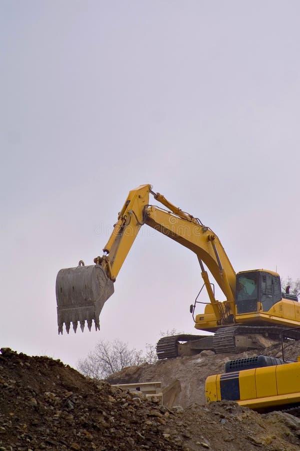 двигать грязи backhoe стоковая фотография rf