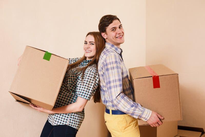 Двигать к новой квартире стоковое фото rf