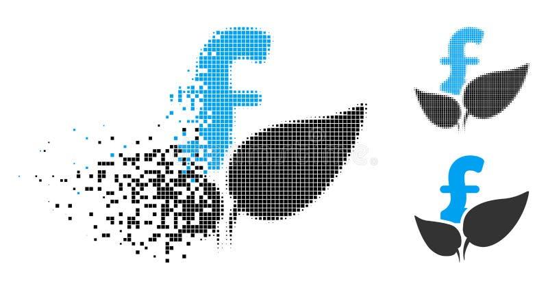 Двигая значок запуска фунта земледелия полутонового изображения Pixelated бесплатная иллюстрация