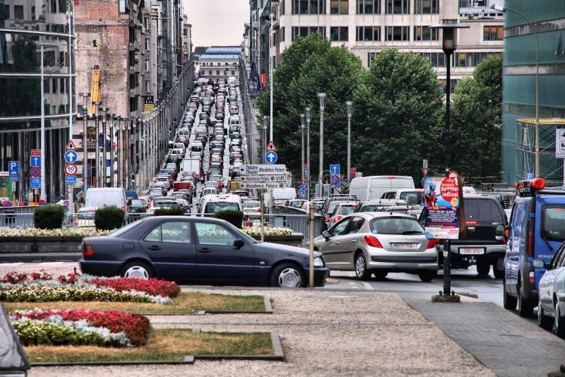 Движение Брюсселя стоковая фотография