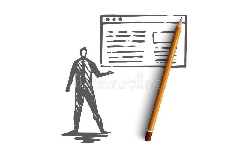 Движение, вебсайт, интернет, технология, цифровая концепция Вектор нарисованный рукой изолированный бесплатная иллюстрация