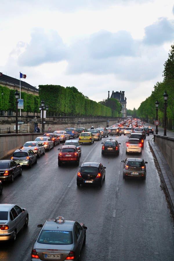 Движение в Париже стоковая фотография rf