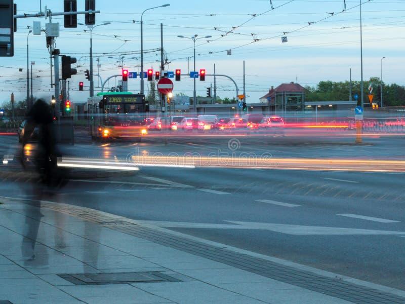 Движение в Poznan стоковая фотография