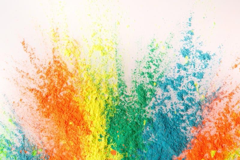 Движение замораживания красочного порошка holi для фестиваля весны стоковая фотография rf