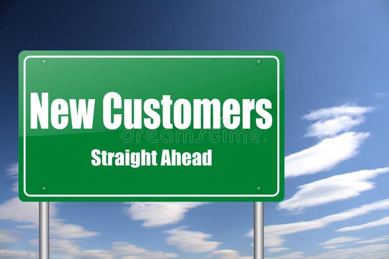 движение знака клиентов новое стоковое фото rf
