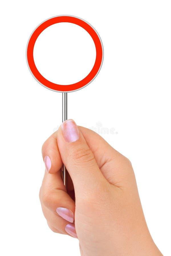 движение знака руки круга стоковая фотография rf