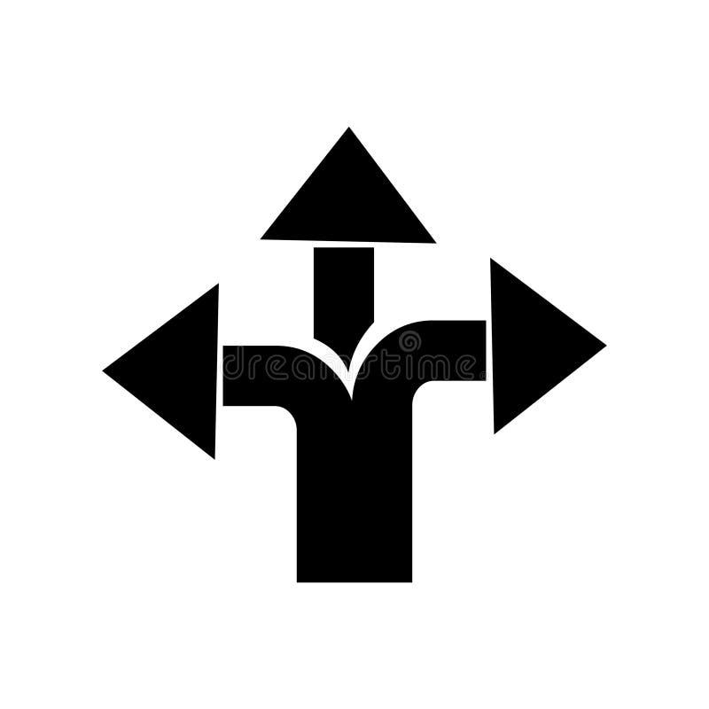 Движение и дорожный знак Дорожный знак стрелок вектора иллюстрация штока