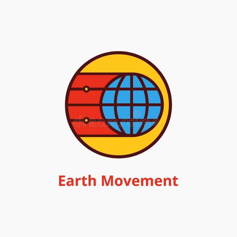 Движение логотипа земли стоковые изображения
