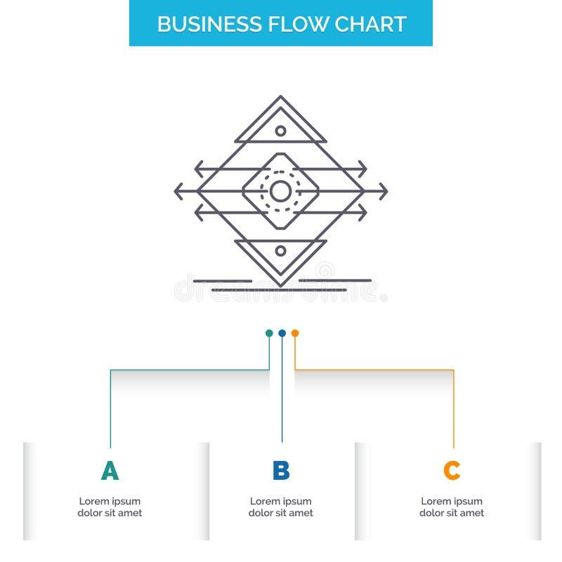 Движение, майна, дорога, знак, дизайн графика течения дела безопасности с 3 шагами r иллюстрация штока