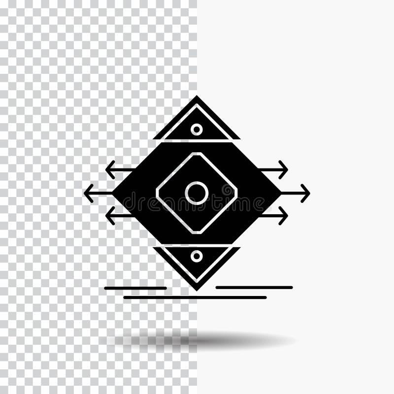 Движение, майна, дорога, знак, значок глифа безопасности на прозрачной предпосылке r бесплатная иллюстрация