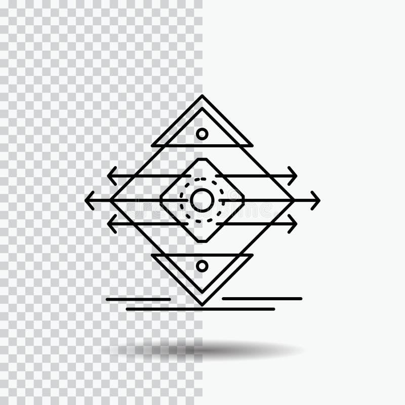 Движение, майна, дорога, знак, линия значок безопасности на прозрачной предпосылке r иллюстрация штока