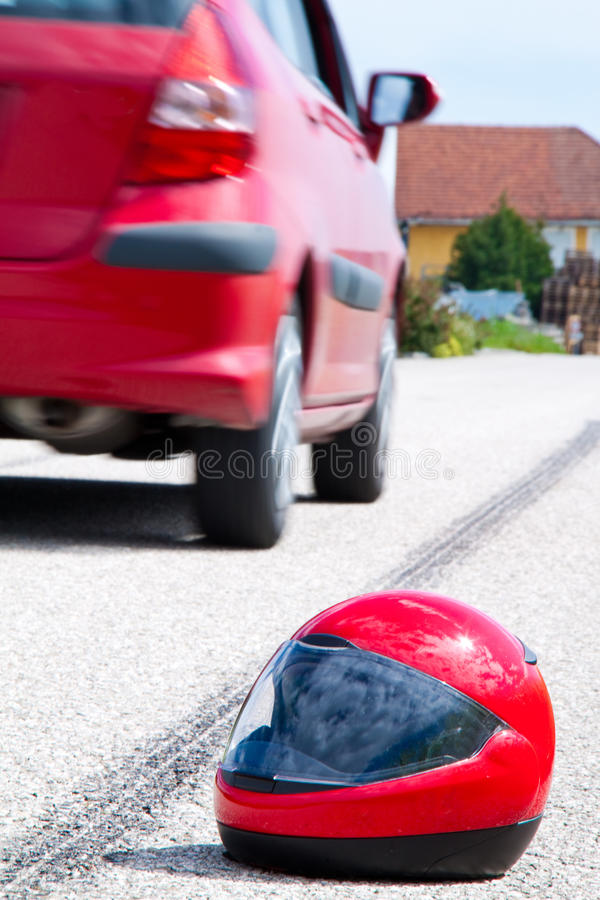 движение мотоцикла аварии стоковые фото