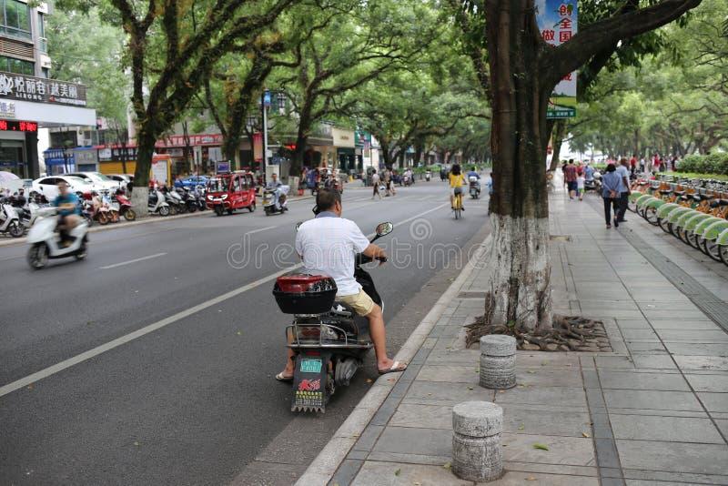 Движение на улице в Китае стоковые изображения rf