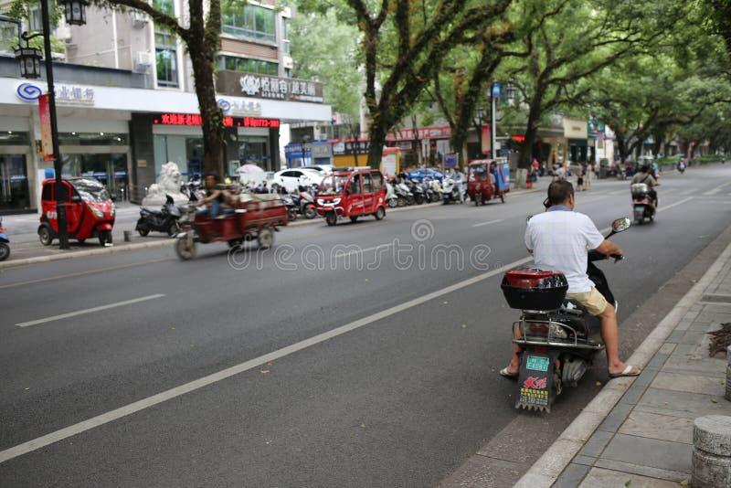 Движение на улице в Китае стоковое изображение rf