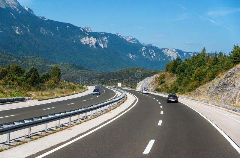 Движение на шоссе стоковая фотография rf