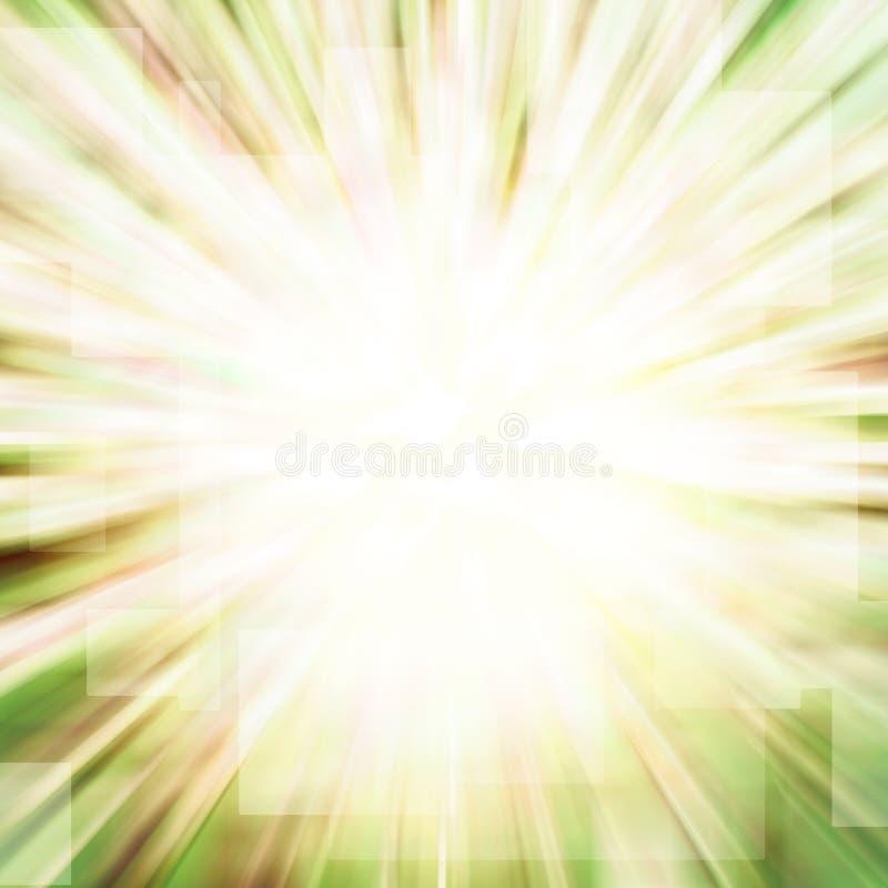 движение нерезкости зеленое иллюстрация вектора