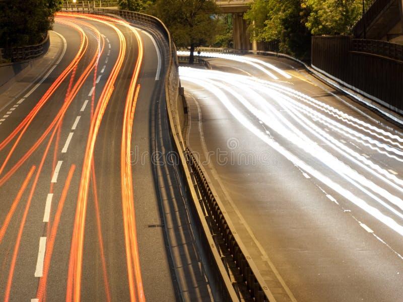 движение ночи города стоковые фото
