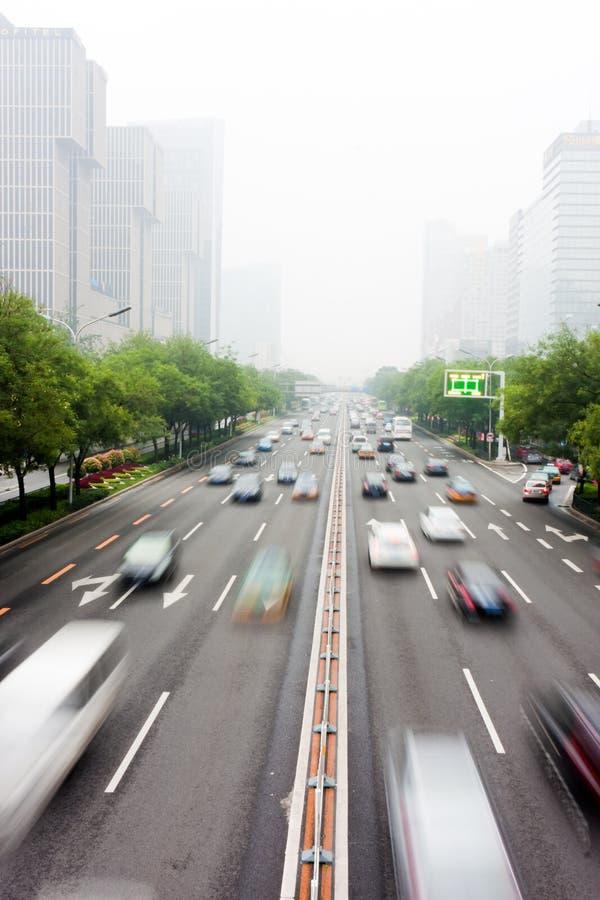 движение Пекин s урбанское стоковое изображение rf