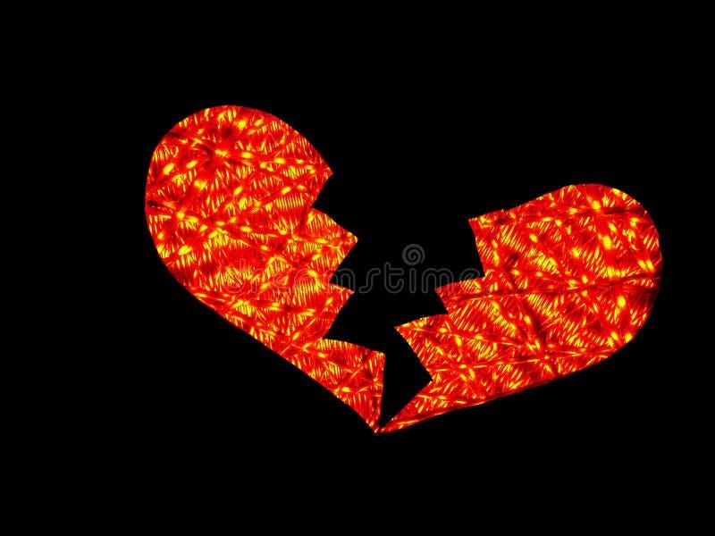 движение света сломленного сердца стоковая фотография rf