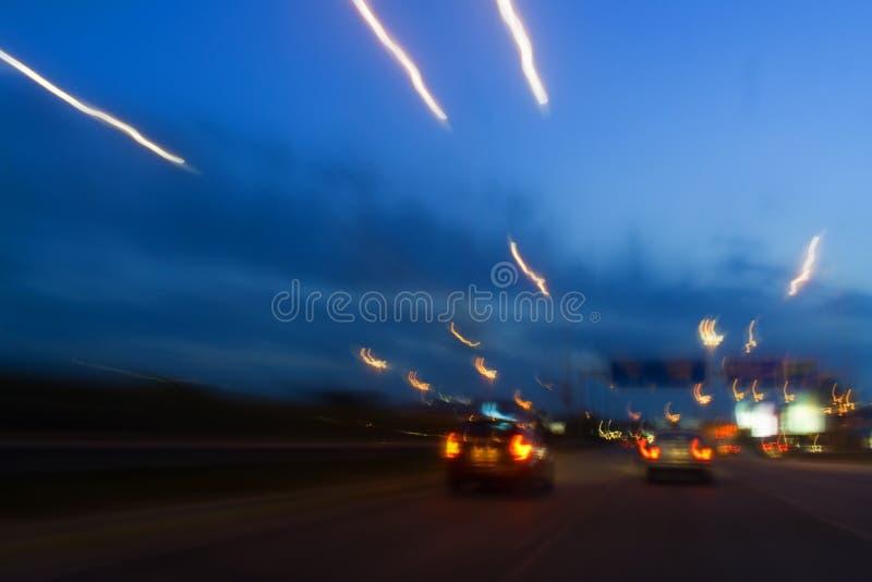 движение светов стоковые изображения rf