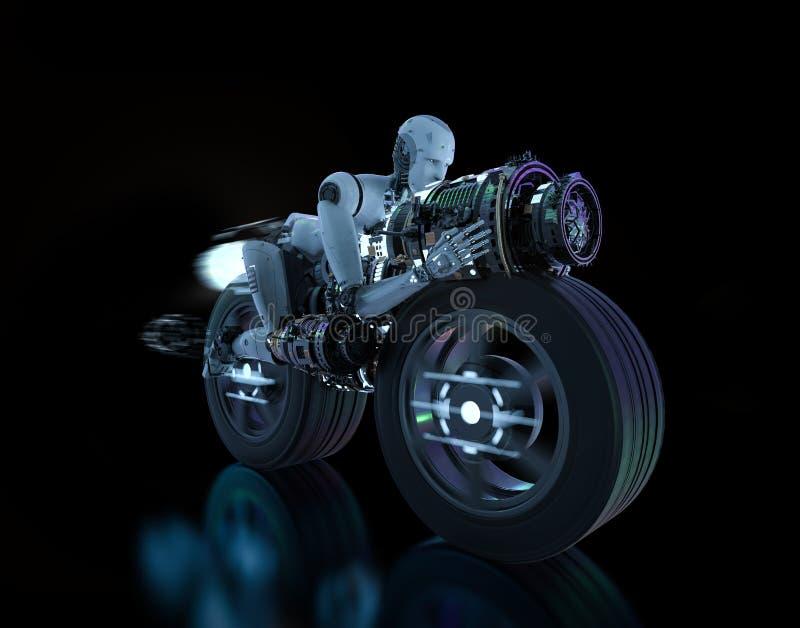 Движение скорости робота иллюстрация вектора