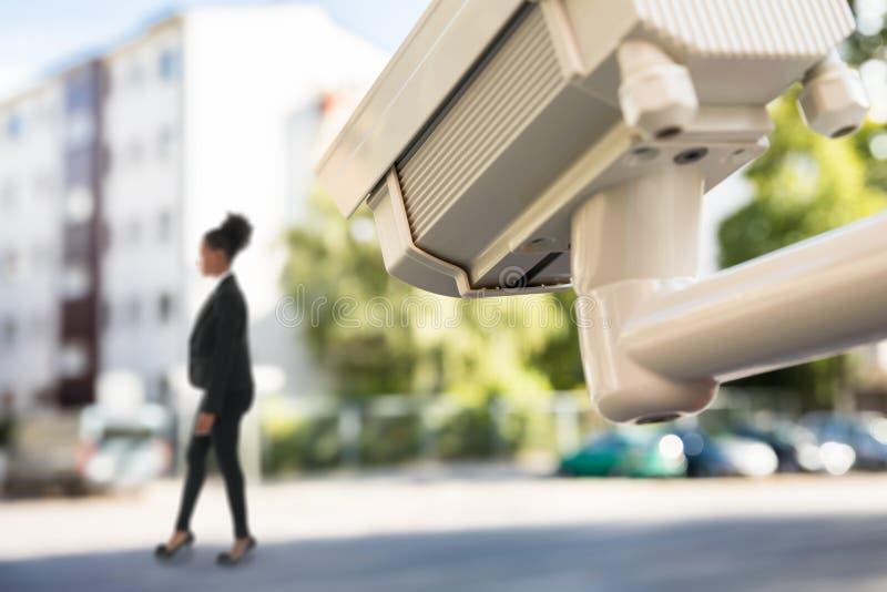 Движение улицы контроля CCTV стоковое фото rf