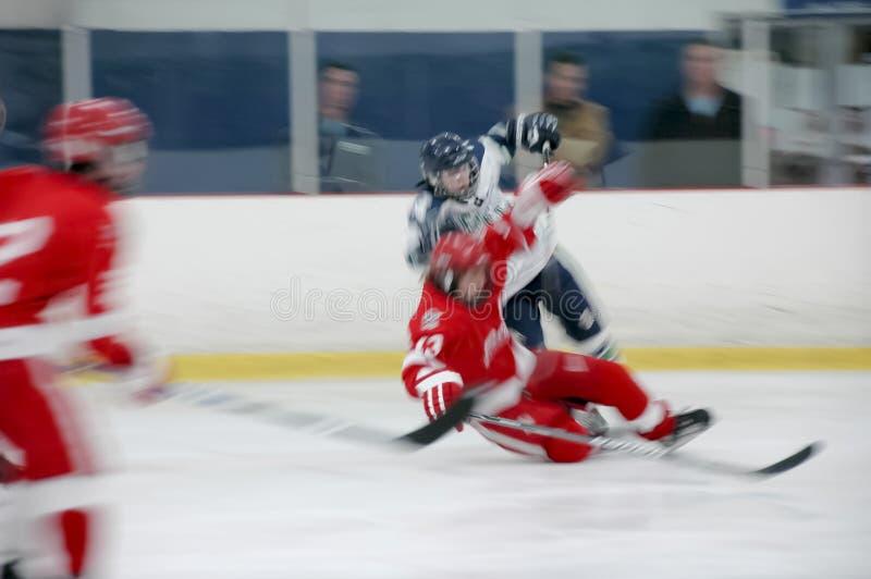 движение хоккея 001 действия стоковая фотография